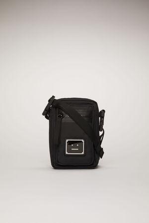 Acne Studios  FA-UX-BAGS000012 Schwarz Kleine Tasche mit Logo-Schild braun