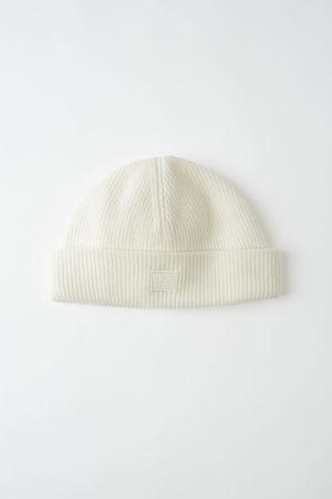 Acne Studios  FA-UX-HATS000026 Kokosnussweiß Beanie aus Wolle grau