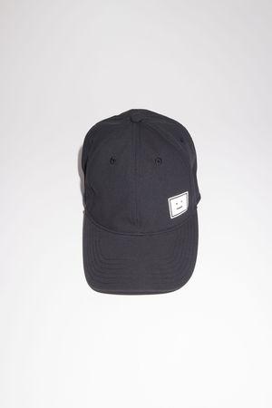 Acne Studios  FA-UX-HATS000061 Black  Twill baseball cap