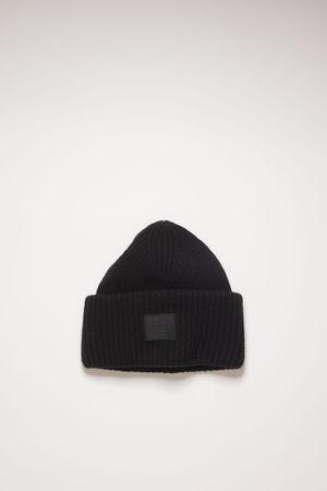 Acne Studios  FA-UX-HATS000063 Schwarz  Beanie mit Face-Logo grau