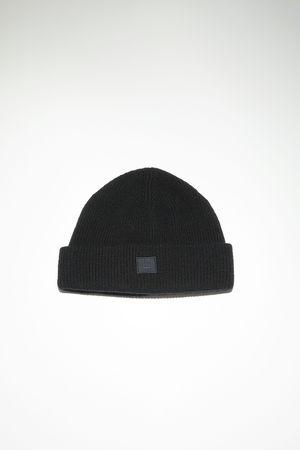 Acne Studios  FA-UX-HATS000064 Black  Rib knit beanie hat