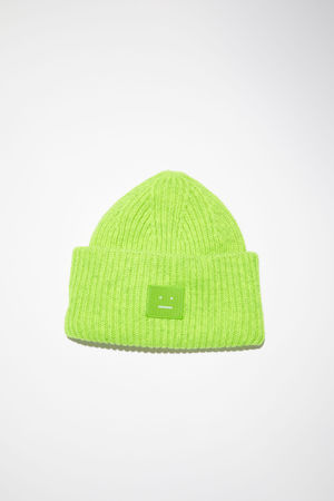 Acne Studios  FA-UX-HATS000067 Neon green  Rib knit beanie hat