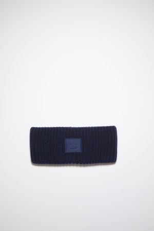 Acne Studios  FA-UX-HATS000097 Marineblau  Geripptes Stirnband