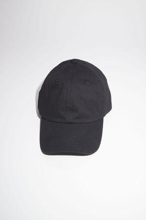 Acne Studios  FA-UX-HATS000105 Schwarz  Baseballkappe aus Twill
