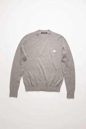Acne Studios  FA-UX-KNIT000012 Grau-meliert  Wollpullover mit Rundhalsausschnitt grau