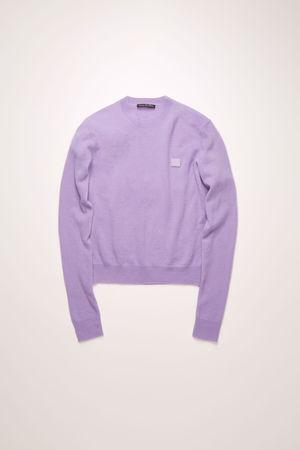 Acne Studios  FA-UX-KNIT000012 Lavendel  Pullover mit Rundhalsausschnitt beige