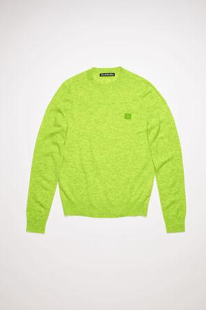 Acne Studios  FA-UX-KNIT000025 Neon green  Wool crew neck sweater