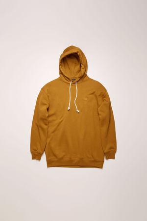 Acne Studios  FA-UX-SWEA000009 Karamellbraun Kapuzen-Sweatshirt in Oversized-Passform grau