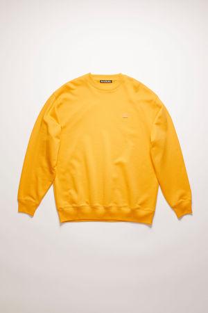Acne Studios  FA-UX-SWEA000010 Honiggelb  Oversized Sweatshirt grau