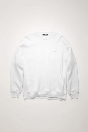 Acne Studios  FA-UX-SWEA000010 Optisches Weiß  Sweatshirt in Oversized-Passform grau