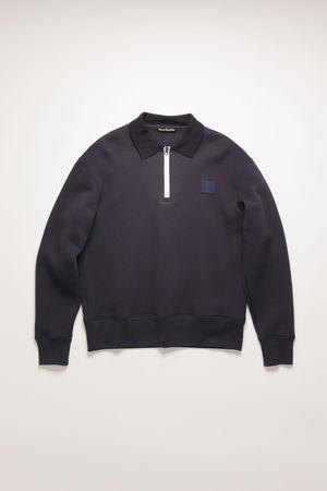Acne Studios  FA-UX-SWEA000043 Marineblau  Oversized-Sweatshirt mit spitzem Kragen grau