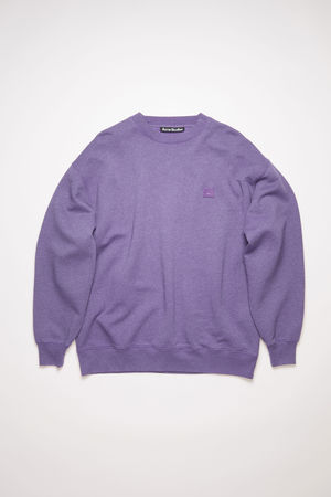 Acne Studios  FA-UX-SWEA000065 Electric purple  Crew neck sweatshirt grau
