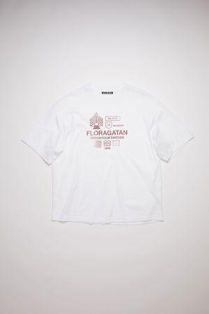 Acne Studios  FA-UX-TSHI000062 Optic White  Relaxed fit t-shirt braun