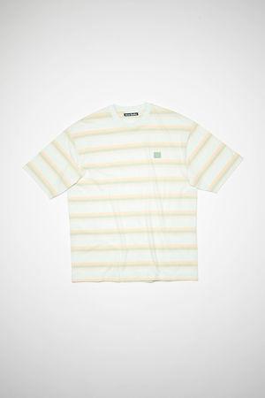 Acne Studios  FA-UX-TSHI000094 Blassgrün  T-Shirt mit Streifen in Pastellfarben