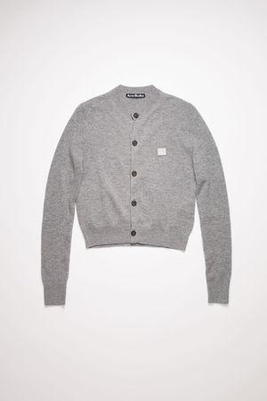 Acne Studios  FA-WN-KNIT000003 Grey Melange  Cardigan sweater grau
