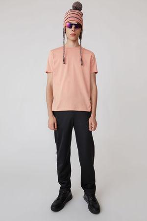 Acne Studios  FA-WN-TSHI000001 Blassrosa  T-Shirt in schmaler Passform braun