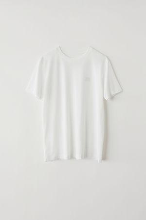 Acne Studios  FA-WN-TSHI000001 Optisches Weiß  Klassisches T-Shirt grau