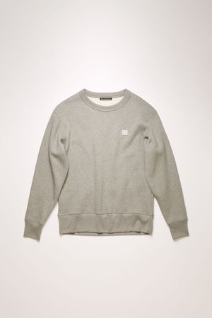 Acne Studios  Fairview Face Hellgrau-meliert  Sweatshirt in normaler Passform grau