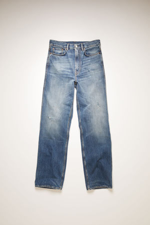 Acne Studios  FN-MN-5PKT000035 Mid Blue  Slim fit jeans braun