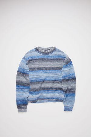 Acne Studios  FN-MN-KNIT000238 Blue Multicolor Crew neck sweater