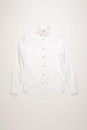 Acne Studios  FN-MN-SHIR000177 Optisches Weiß  Klassisches Hemd aus Baumwollpopeline