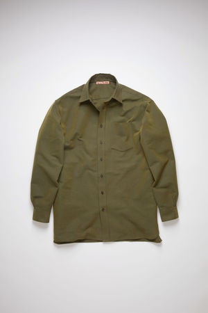 Acne Studios  FN-MN-SHIR000292 Hunter green Oversized shirt