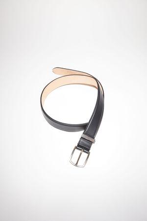 Acne Studios  FN-UX-ACCS000025 Black  Matte leather belt weiss