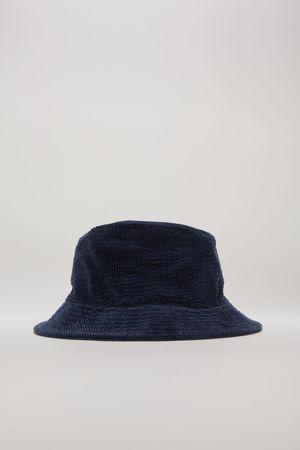Acne Studios  FN-UX-HATS000030 Marineblau  Fischerhut aus Cordsamt braun
