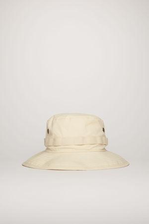 Acne Studios  FN-UX-HATS000065 Champagne beige  Logo-embroidered bucket hat braun