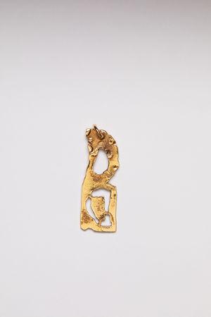 Acne Studios  FN-UX-JEWE000155 Gold  D pendant grau