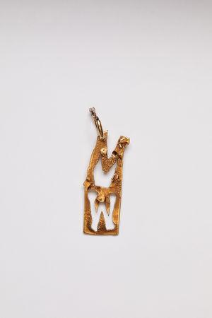 Acne Studios  FN-UX-JEWE000190 Gold  M earring braun