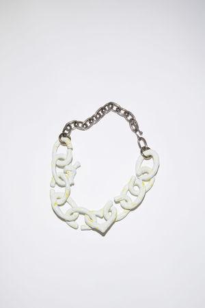 Acne Studios  FN-UX-JEWE000232 Weiß Halskette mit verschiedenen Elementen