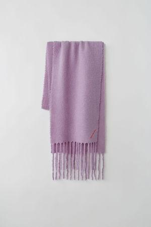 Acne Studios  FN-UX-SCAR000027 Lavendel  Gefilzter Schal aus Woll-Mix grau