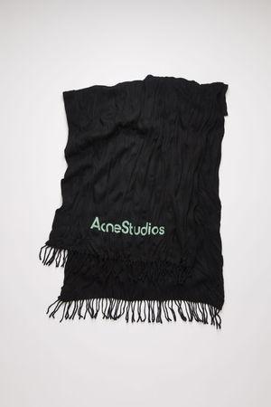 Acne Studios  FN-UX-SCAR000091 Black  Crinkled wool scarf grau