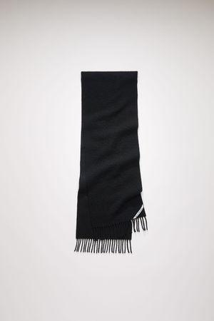 Acne Studios  FN-UX-SCAR000117 Black Pilled wool scarf grau