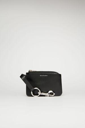 Acne Studios  FN-UX-SLGS000079 Schwarz  Beuteltaschen-Schlüsselanhänger grau