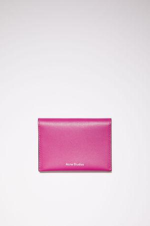 Acne Studios  FN-UX-SLGS000104 Fuchsia pink Bifold card holder