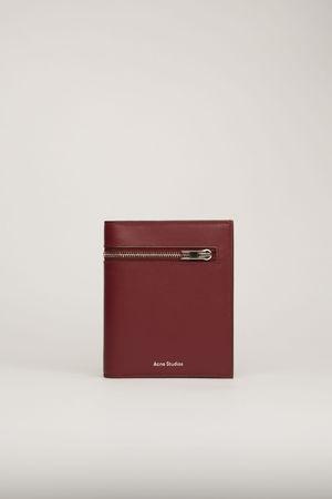 Acne Studios  FN-UX-SLGS000107 Burgundy  Trifold zip wallet grau