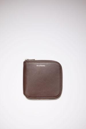 Acne Studios  FN-UX-SLGS000115 Dark brown Zippered wallet