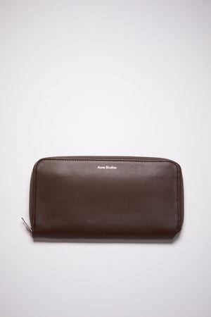 Acne Studios  FN-UX-SLGS000116 Dark brown Continental wallet grau