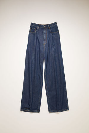 Acne Studios  FN-WN-5PKT000067 Dark Blue Loose fit jeans braun