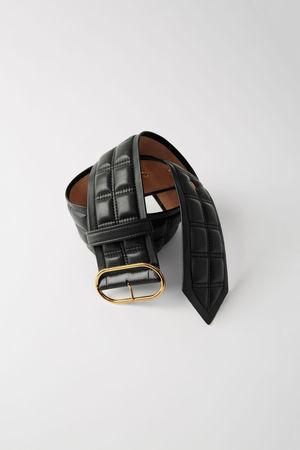 Acne Studios  FN-WN-ACCS000030 Schwarz  Gesteppter Ledergürtel grau