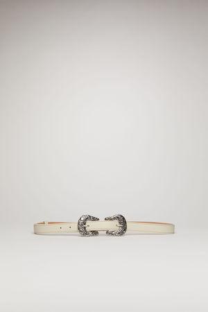 Acne Studios  FN-WN-ACCS000052 Weiß  Ledergürtel mit Schnalle im Western-Stil grau