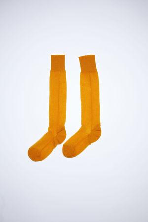Acne Studios  FN-WN-ACCS000091 Apricot orange  Sheer socks