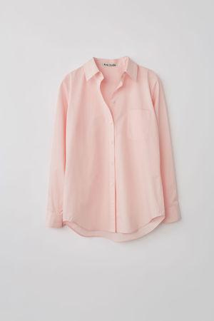 Acne Studios  FN-WN-BLOU000228 Pastellrosa  Hemd mit aufgesticktem Logo grau