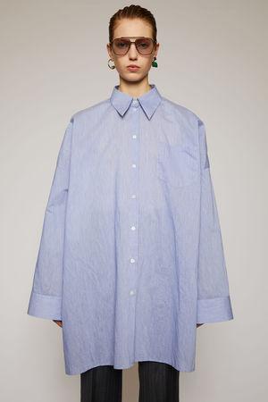 Acne Studios  FN-WN-BLOU000284 Puderblau  Oversized-Hemd aus Baumwollpopeline grau