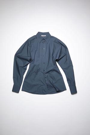 Acne Studios  FN-WN-BLOU000608 Amselblau  Geknöpftes Hemd mit Dolman-Ärmeln