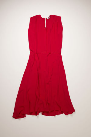 Acne Studios  FN-WN-DRES000387 Cherry red  Tie-back sleeveless dress braun