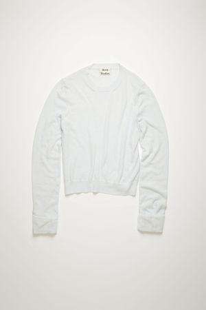 Acne Studios  FN-WN-KNIT000204 Eisblau  Pullover mit Rundhalsausschnitt grau