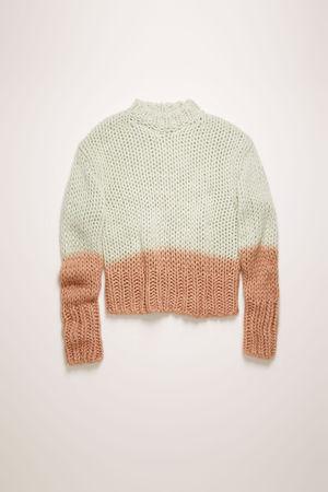 Acne Studios  FN-WN-KNIT000206 Pastel green  Dip-dyed sweater grau